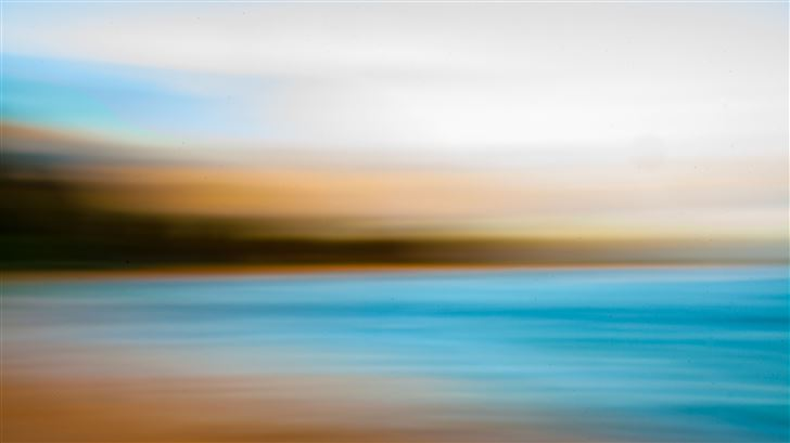 beach abstract 5k Mac Wallpaper