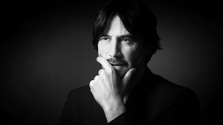 keanu reeves monochrome 2020 Mac Wallpaper