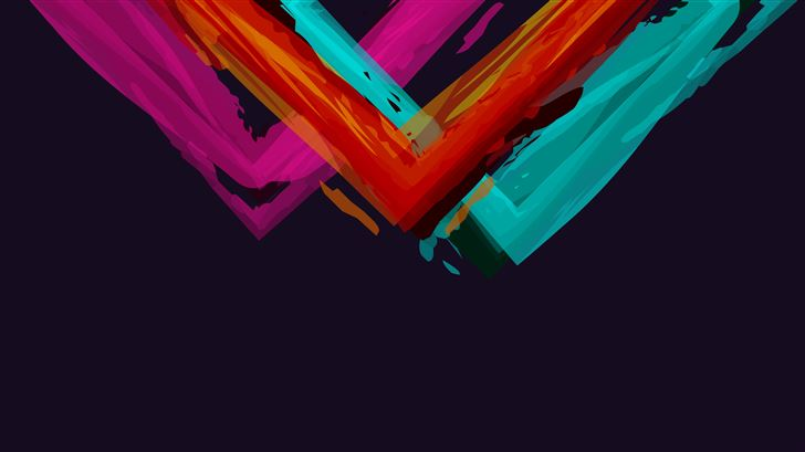 minimalistic abstract colors simple background 5k Mac Wallpaper