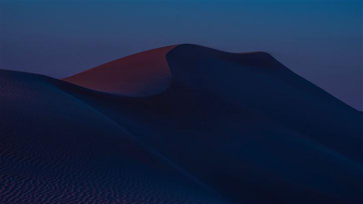 desert hills dusk sand dunes 8k Mac Wallpaper