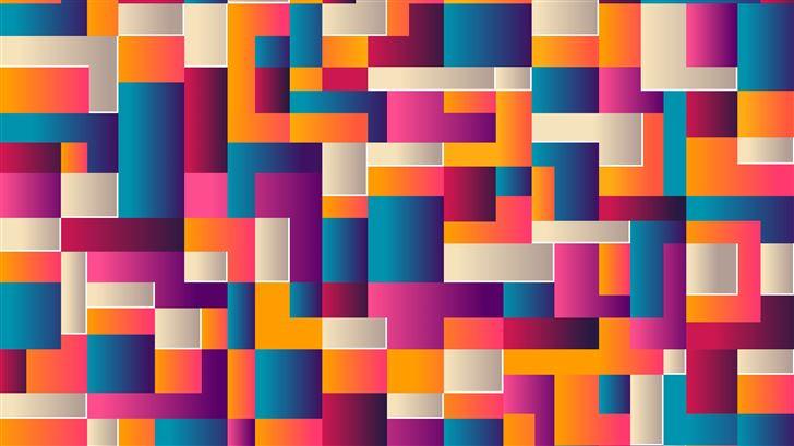 colorful shapes abstract Mac Wallpaper