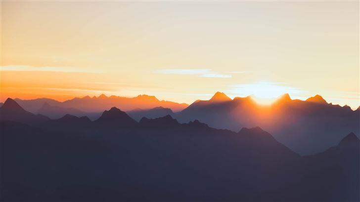 mountain range peak 5k Mac Wallpaper