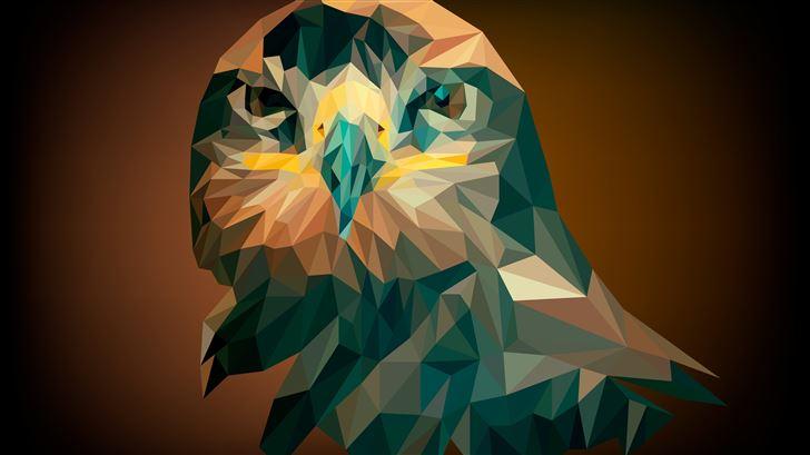 artistic abstract owl Mac Wallpaper