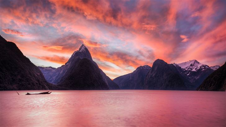 milford sound new zealand Mac Wallpaper