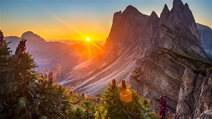 sunrise at the dolomites italy Mac Wallpaper
