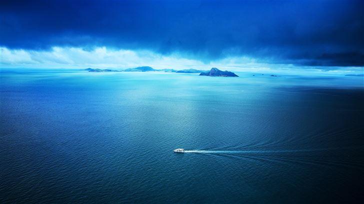 blue ocean 5k Mac Wallpaper