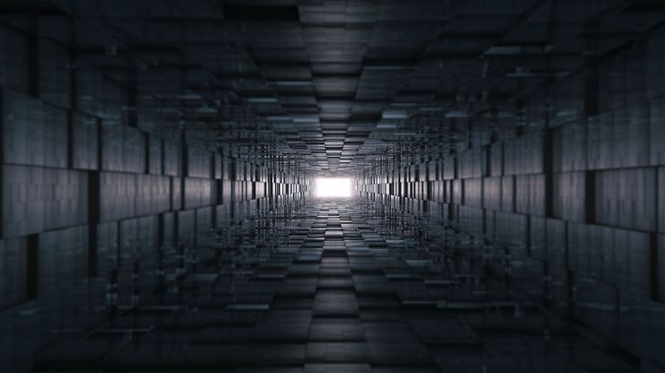 abstract dark geometry 8k Mac Wallpaper