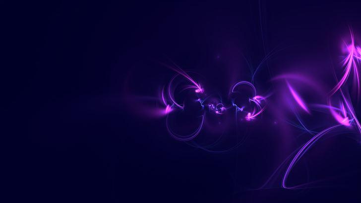 abstract digital art purple background 5k Mac Wallpaper