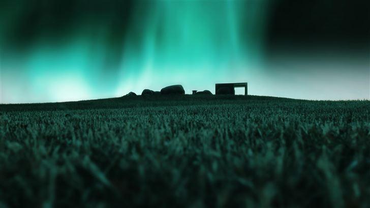 aurora lights 5k Mac Wallpaper