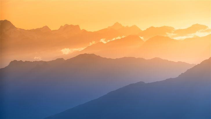 southern alps mountains 8k Mac Wallpaper