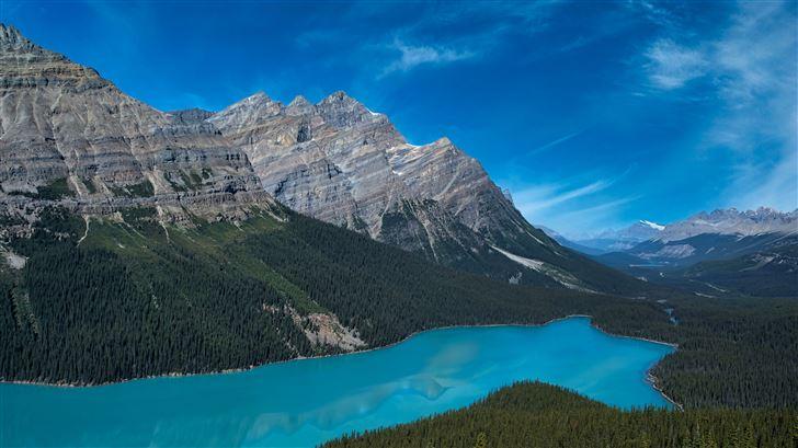 banff national park canada 5k Mac Wallpaper