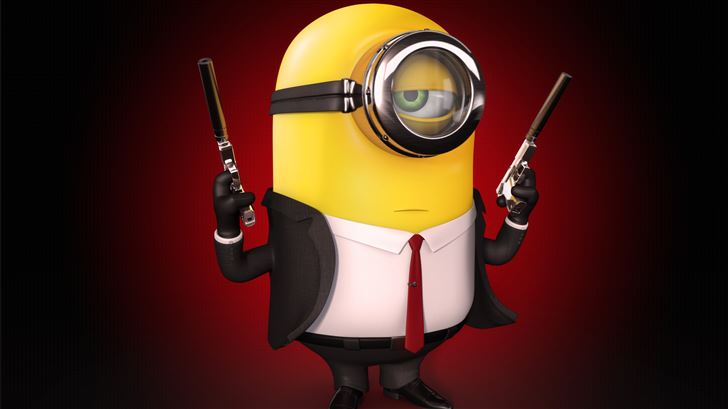 minion hitman 5k Mac Wallpaper