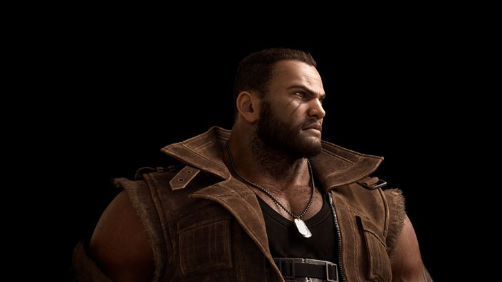 final fantasy vii remake 2019 barret 8k Mac Wallpaper