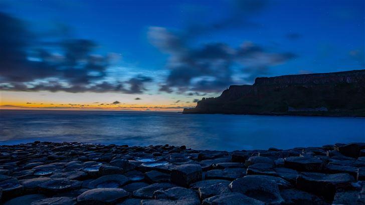 blue sky ocean 4k Mac Wallpaper