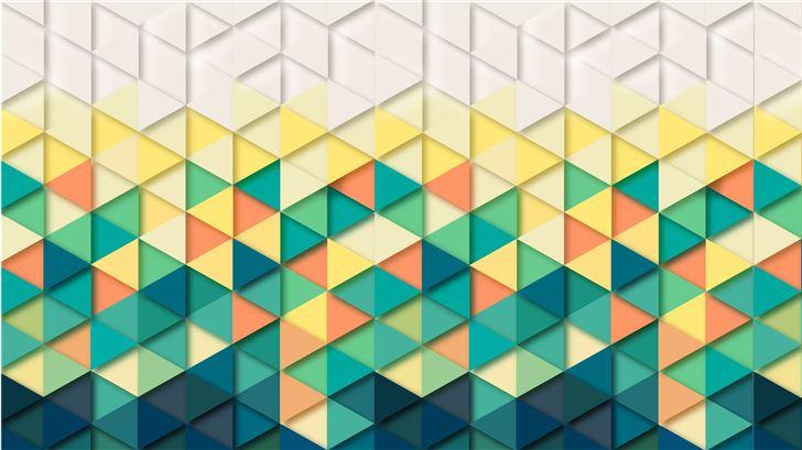 triangle pattern 8k Mac Wallpaper