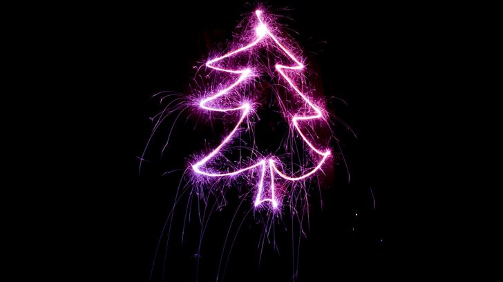 christmas tree neon light Mac Wallpaper