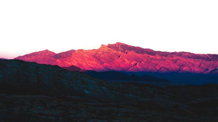 rock pink peak mountains landscape 5k Mac Wallpaper