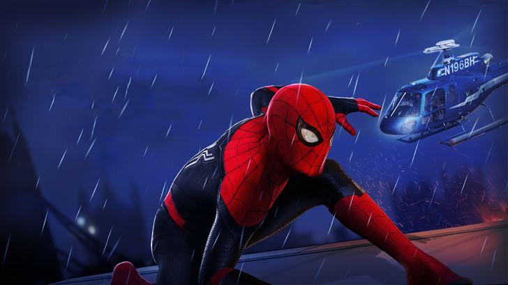 spiderman far from home movie 5k Mac Wallpaper