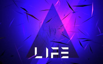 triangle abstract life typography 5k MacBook Pro wallpaper