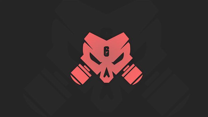 tom clancys rainbow six siege outbreak logo minima Mac Wallpaper