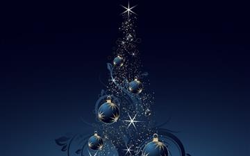 Blue christmas tree All Mac wallpaper