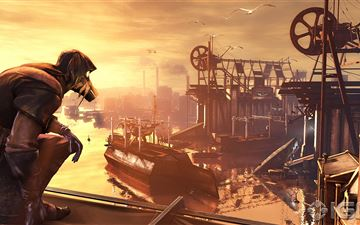 dishonored the knife of dunwall iMac wallpaper