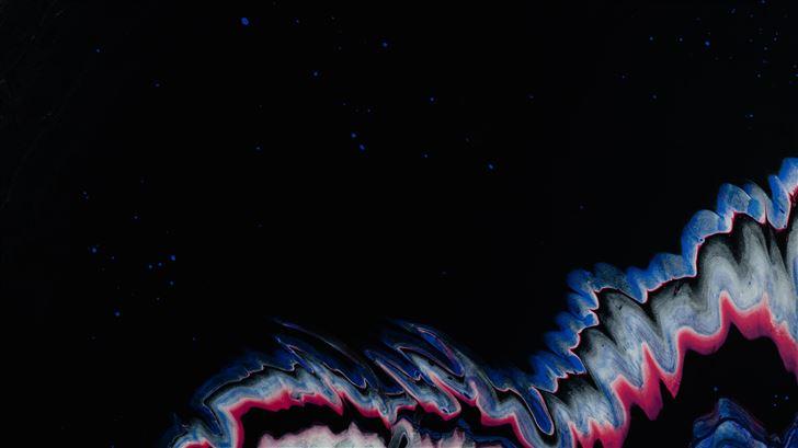 purple liquid flow texture painted 5k Mac Wallpaper