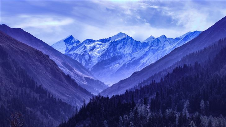 mountain range blue 5k Mac Wallpaper