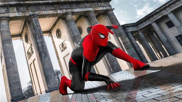 2019 spider man far from home movie poster Mac Wallpaper