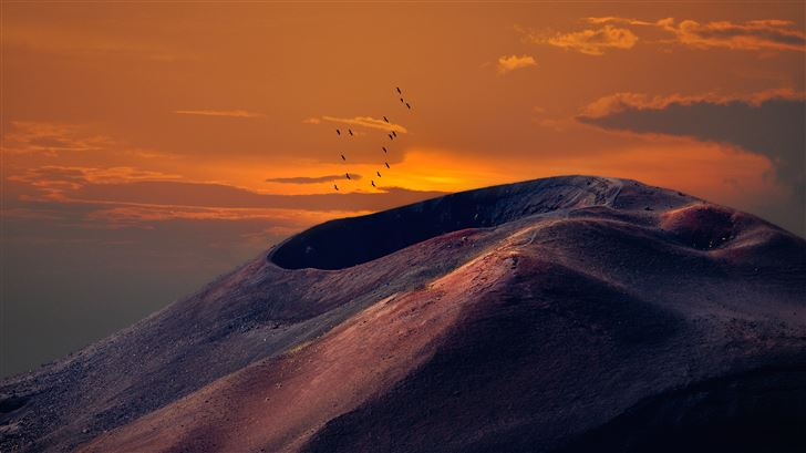 volcanic landscape 8k Mac Wallpaper