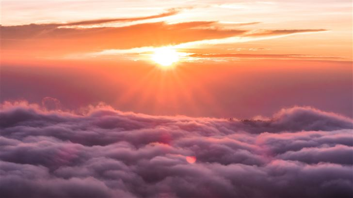 sunrise spectrum clouds 5k Mac Wallpaper