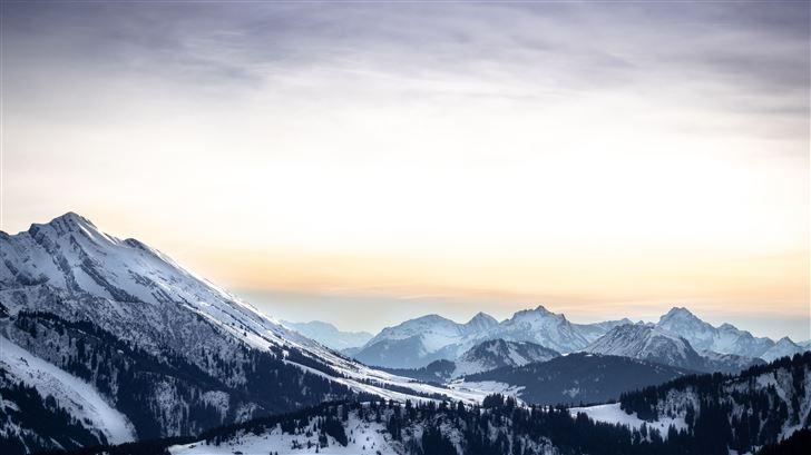 winter mountain rangers 5k Mac Wallpaper