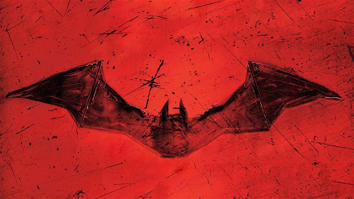the batman 2021 red logo 8k Mac Wallpaper