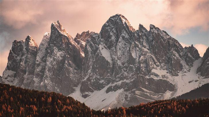 morning landscape view of big mountains 5k Mac Wallpaper