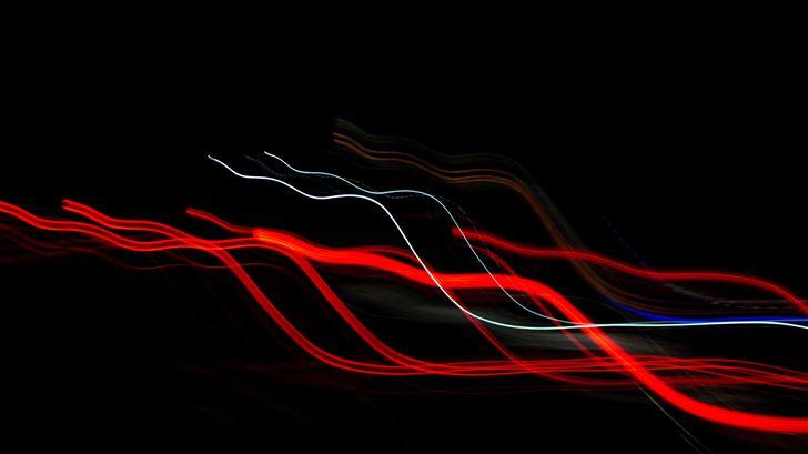 red white light streaks 5k Mac Wallpaper