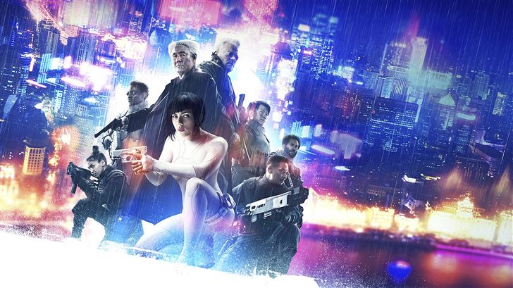 ghost in the shell 5k poster Mac Wallpaper