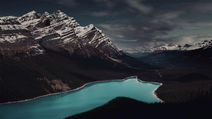peyto lake banff canada 5k Mac Wallpaper