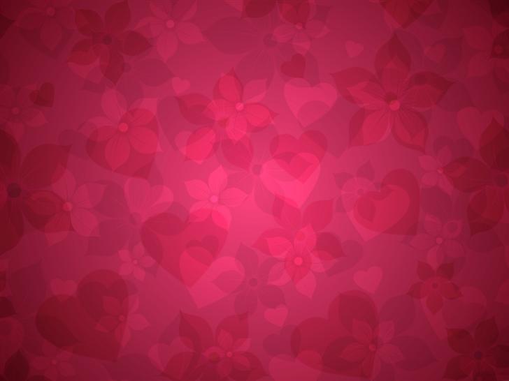 Red floral pattern Mac Wallpaper