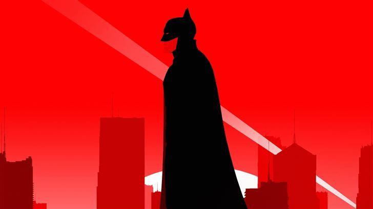 the batman robert pattinson minimal poster 5k Mac Wallpaper