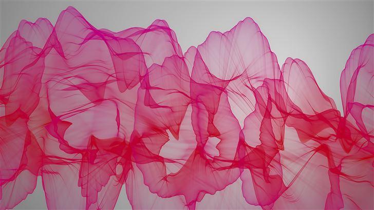 abstract pink ribbon 4k Mac Wallpaper