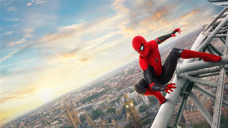 5k spider man far from home Mac Wallpaper