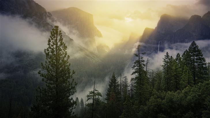 yosemite national park beautiful view 5k Mac Wallpaper