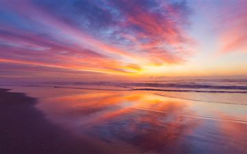 stunning beach sunrise 5k MacBook Pro wallpaper
