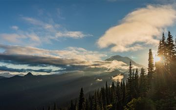 sunset on mt rainier naches peak loop All Mac wallpaper