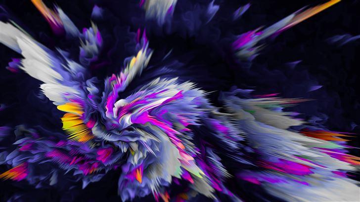 flower birth abstract 8k Mac Wallpaper