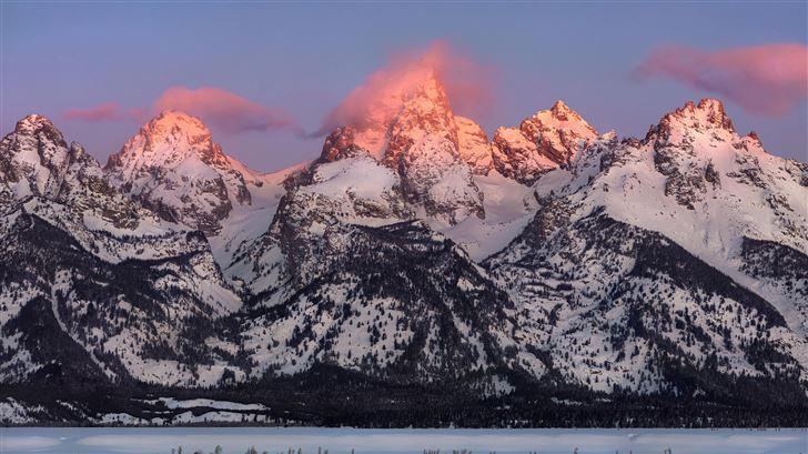 grand teton alpenglow Mac Wallpaper