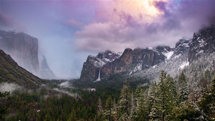 mountain range outdoors tree road 5k Mac Wallpaper