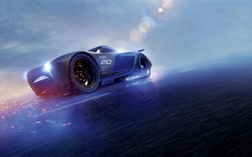 cars 3 jackson storm 8k iMac wallpaper