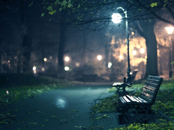Bench cityscapes Mac Wallpaper