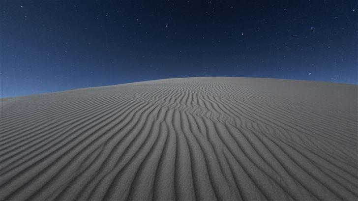 dark desert night 5k Mac Wallpaper